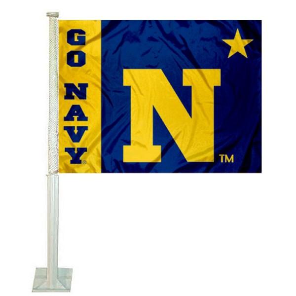 Navy Car Flag