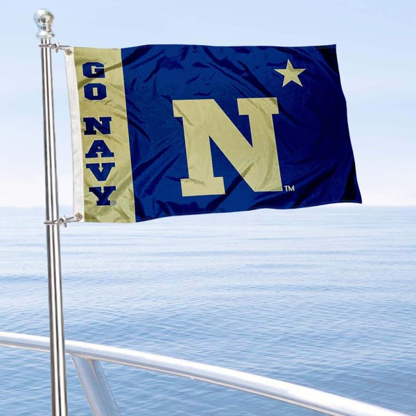 Navy Midshipmen Boat Flag