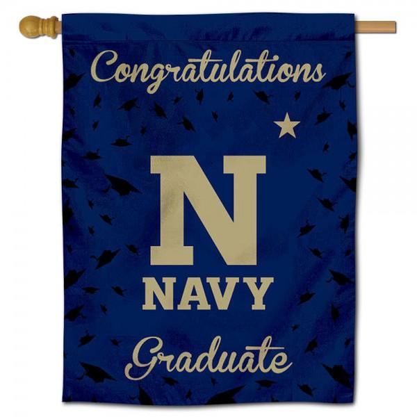 Navy Midshipmen Graduation Banner