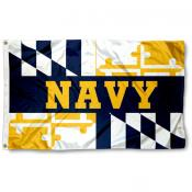 Navy Midshipmen Maryland State Flag