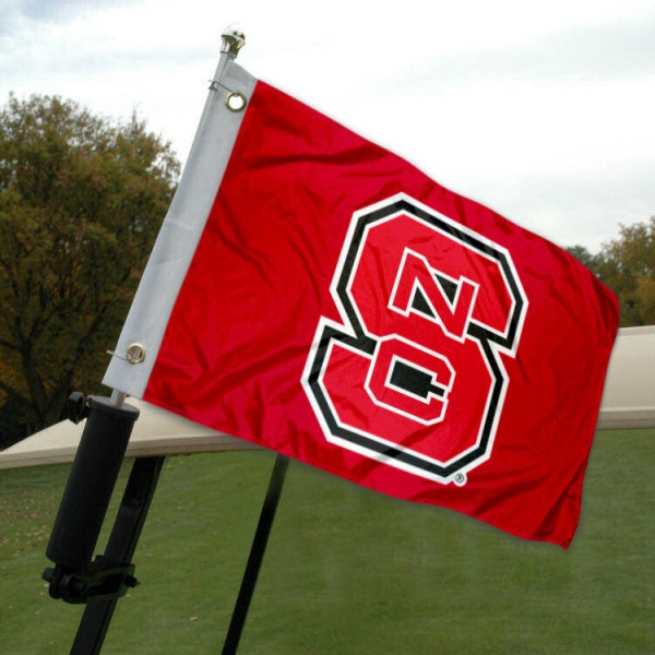 NC State Golf Cart Flag