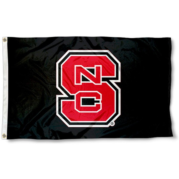 NC State Wolfpack Black Flag