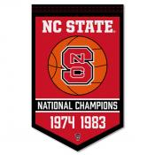 NC State Wolfpack College Basketball National Champions Banner