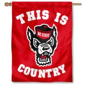 NC State Wolfpack Country House Flag