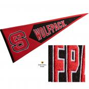 NC State Wolfpack Embroidered Wool Pennant