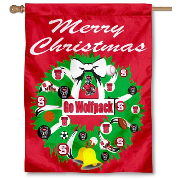 NC State Wolfpack Holiday Flag