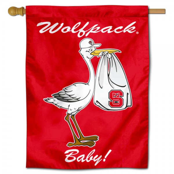 NC State Wolfpack New Baby Banner