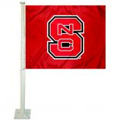 NC State Wolfpack Red Car Flag