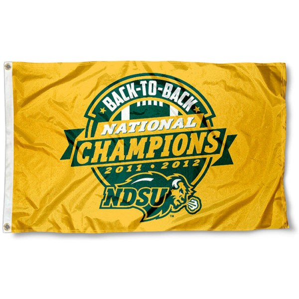 NDSU Bison 2012 FCS National Champs Flag
