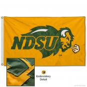 NDSU Bison Appliqued Nylon Gold Flag