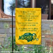 NDSU Bison Fight Song Garden Flag