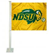 NDSU Bison Gold Car Flag