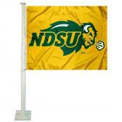 NDSU Bison Gold Car Flag