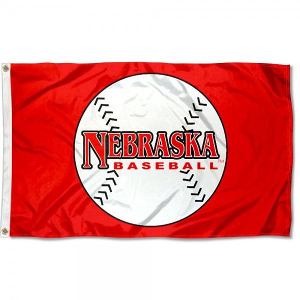 Nebraska Cornhuskers Baseball Flag