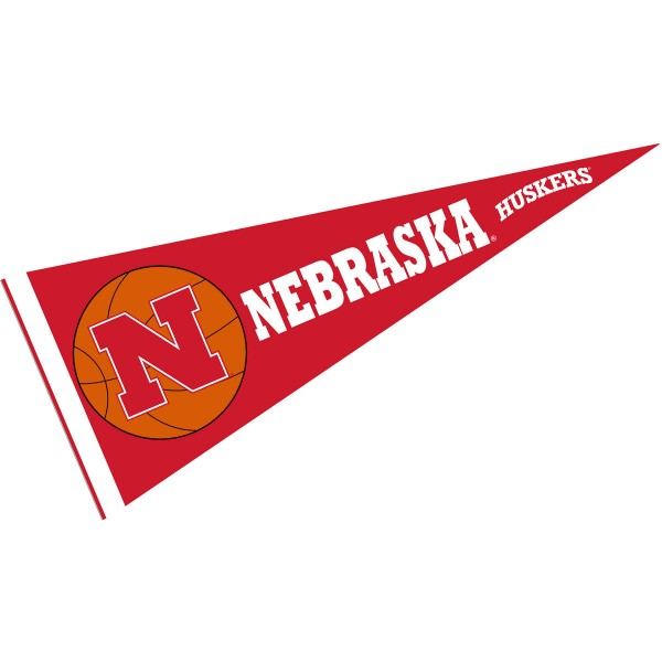 Nebraska Cornhuskers Basketball Pennant