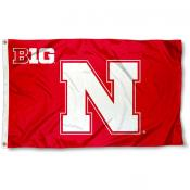 Nebraska Cornhuskers Big 10 Flag