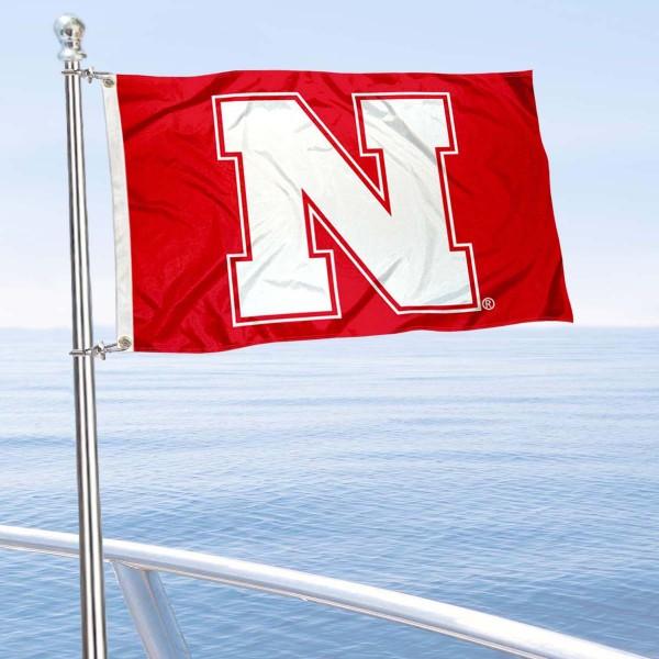 Nebraska Cornhuskers Boat Flag