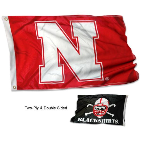 Nebraska Cornhuskers Dual Logo Flag