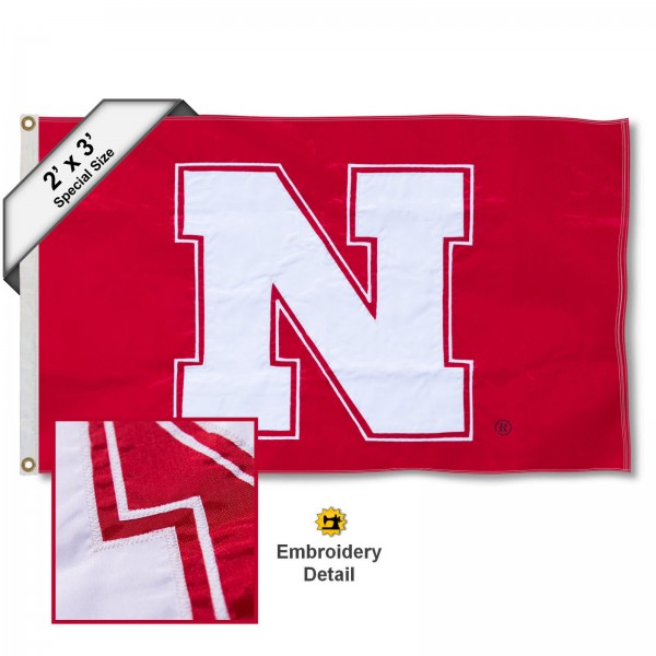 Nebraska Cornhuskers Embroidered 2x3 Foot Flag