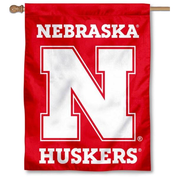 Nebraska Cornhuskers House Flag