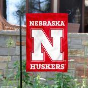 Nebraska Cornhuskers N Logo Garden Flag