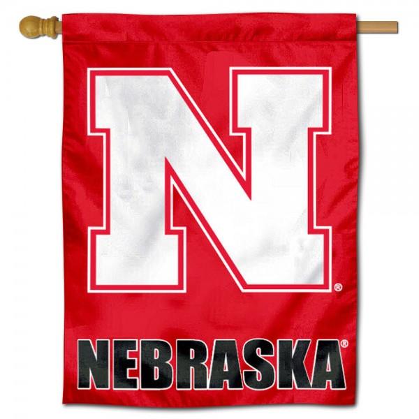 Nebraska Cornhuskers Polyester House Flag