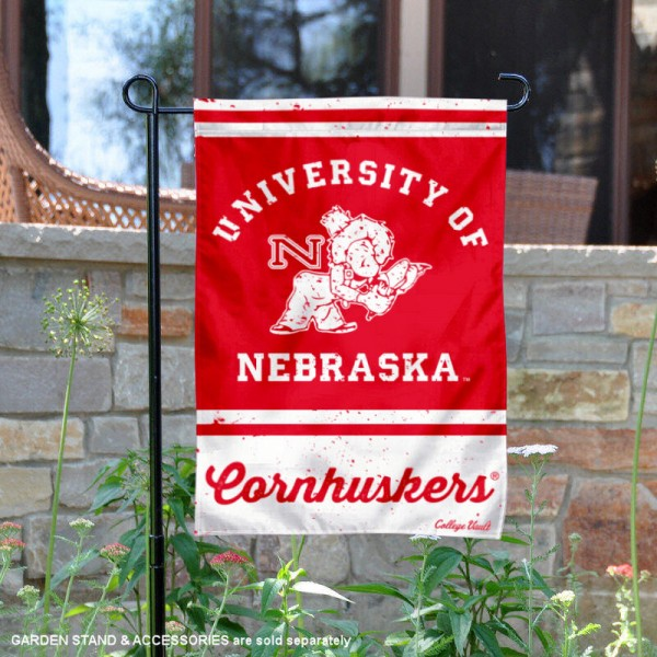 Nebraska Cornhuskers Retro Throwback Garden Banner