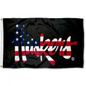 Nebraska Cornhuskers Stars and Stripes Flag