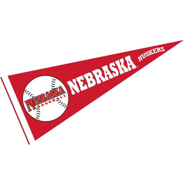 Nebraska Huskers Baseball Pennant