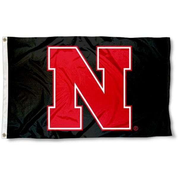 Nebraska Huskers Black N Flag
