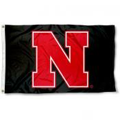 Nebraska Huskers Black N Flag