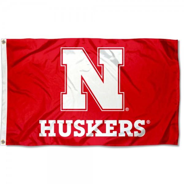 Nebraska Huskers Block N Flag