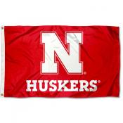 Nebraska Huskers Block N Flag