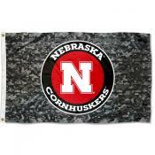 Nebraska Huskers Camouflage 3x5 Foot Flag