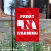 Nebraska Huskers Coach Frost Warning Garden Flag