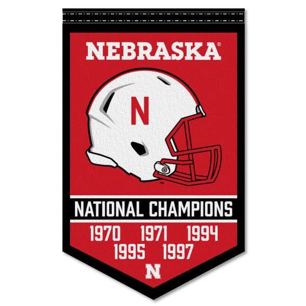 Nebraska Huskers College Football National Champions Banner