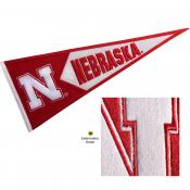 Nebraska Huskers Embroidered Wool Pennant