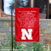 Nebraska Huskers Fight Song Garden Flag
