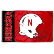 Nebraska Huskers Football Helmet Flag