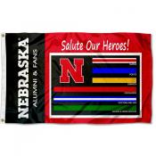 Nebraska Huskers Frontline Workers Flag