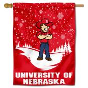 Nebraska Huskers Herbie Winter Banner Flag