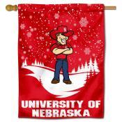 Nebraska Huskers Herbie Winter Banner Flag