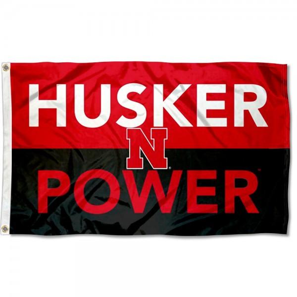 Nebraska Huskers Husker Power Outdoor Flag