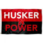 Nebraska Huskers Husker Power Outdoor Flag