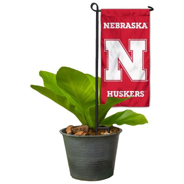 Nebraska Huskers Mini Garden Flag Marker