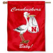 Nebraska Huskers New Baby Banner