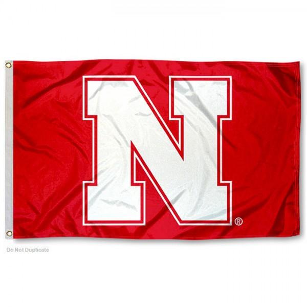 Nebraska Huskers Red N Flag