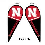 Nebraska Huskers Teardrop Flag