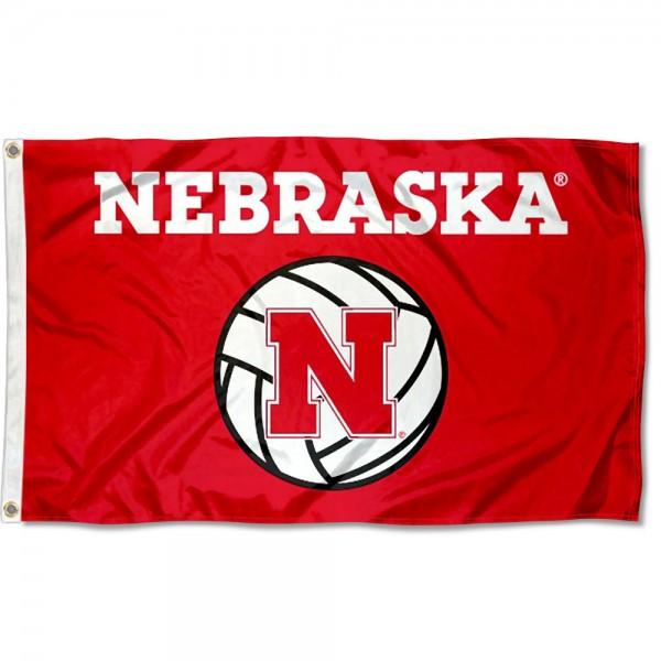 Nebraska Huskers Volleyball Flag