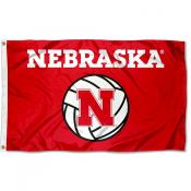Nebraska Huskers Volleyball Flag
